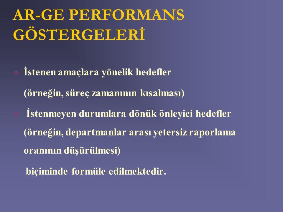 AR-GE PERFORMANS GÖSTERGELERİ