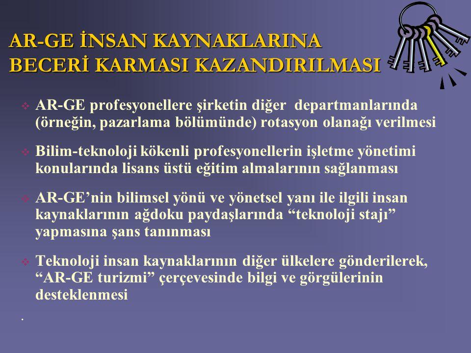 AR-GE İNSAN KAYNAKLARINA BECERİ KARMASI KAZANDIRILMASI