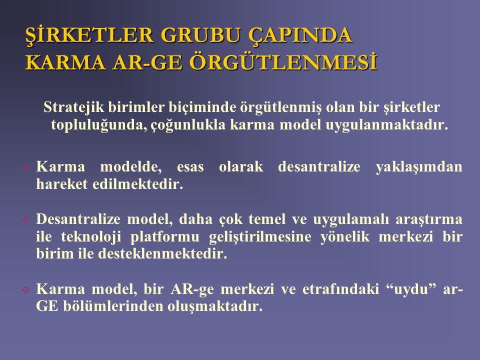 ŞİRKETLER GRUBU ÇAPINDA KARMA AR-GE ÖRGÜTLENMESİ