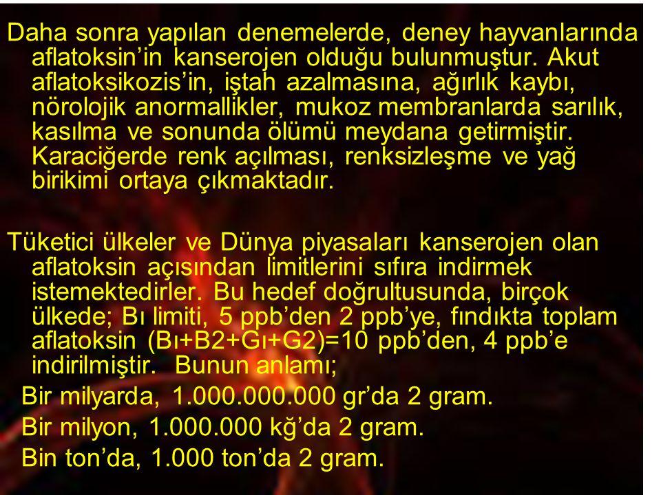 Bir milyarda, 1.000.000.000 gr'da 2 gram.
