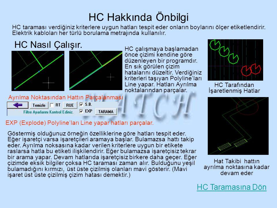 HC Hakkında Önbilgi HC Nasıl Çalışır. HC Taramasına Dön