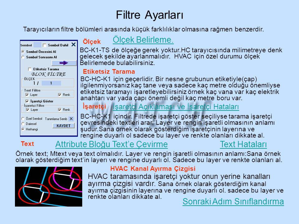 Filtre Ayarları Ölçek Belirleme. Attribute Bloğu Text'e Çevirme