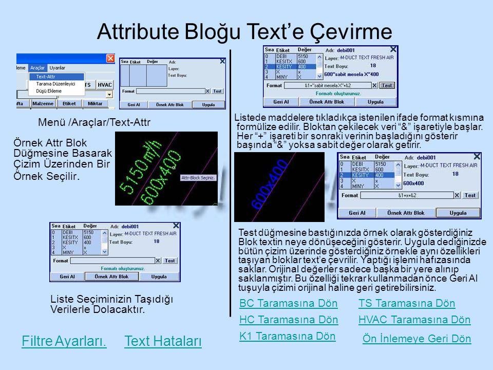 Attribute Bloğu Text'e Çevirme