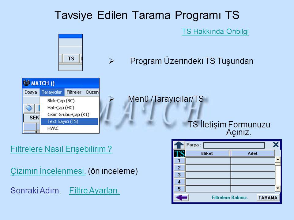 Tavsiye Edilen Tarama Programı TS
