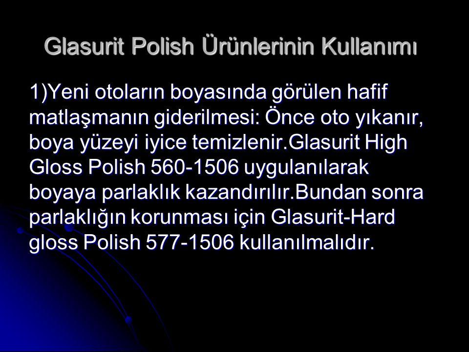 Glasurit Polish Ürünlerinin Kullanımı