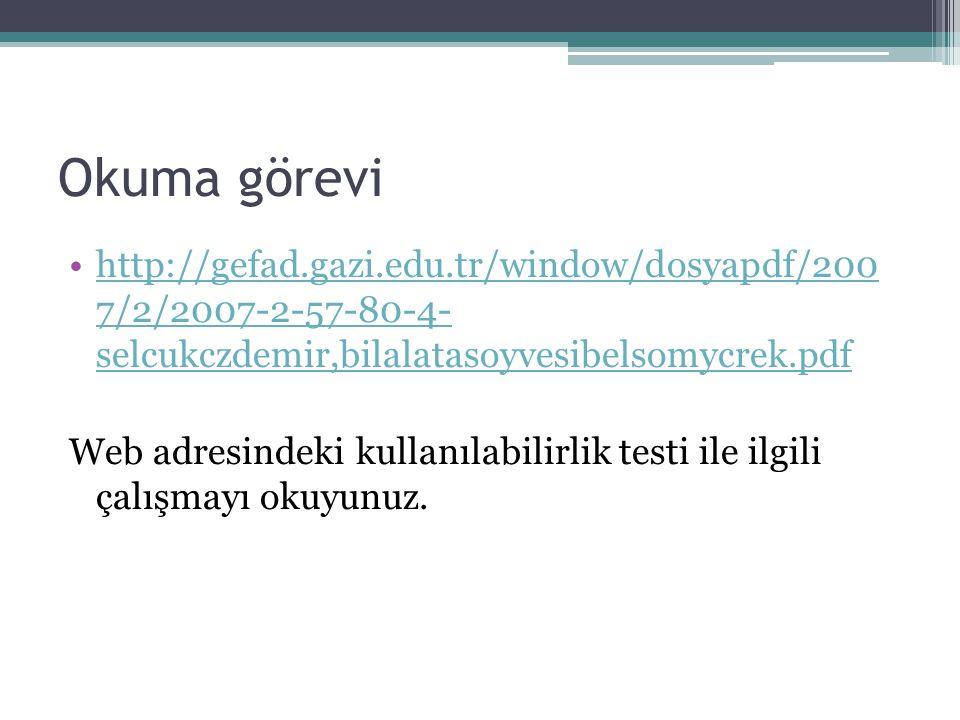 Okuma görevi http://gefad.gazi.edu.tr/window/dosyapdf/200 7/2/2007-2-57-80-4- selcukczdemir,bilalatasoyvesibelsomycrek.pdf.