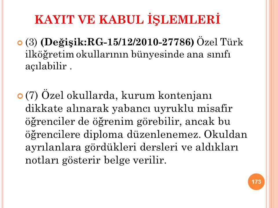 KAYIT VE KABUL İŞLEMLERİ