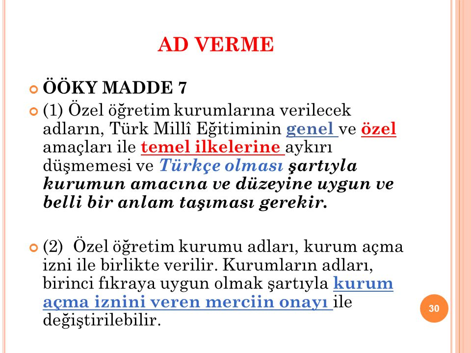 AD VERME ÖÖKY MADDE 7.