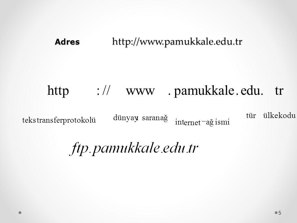 Adres http://www.pamukkale.edu.tr
