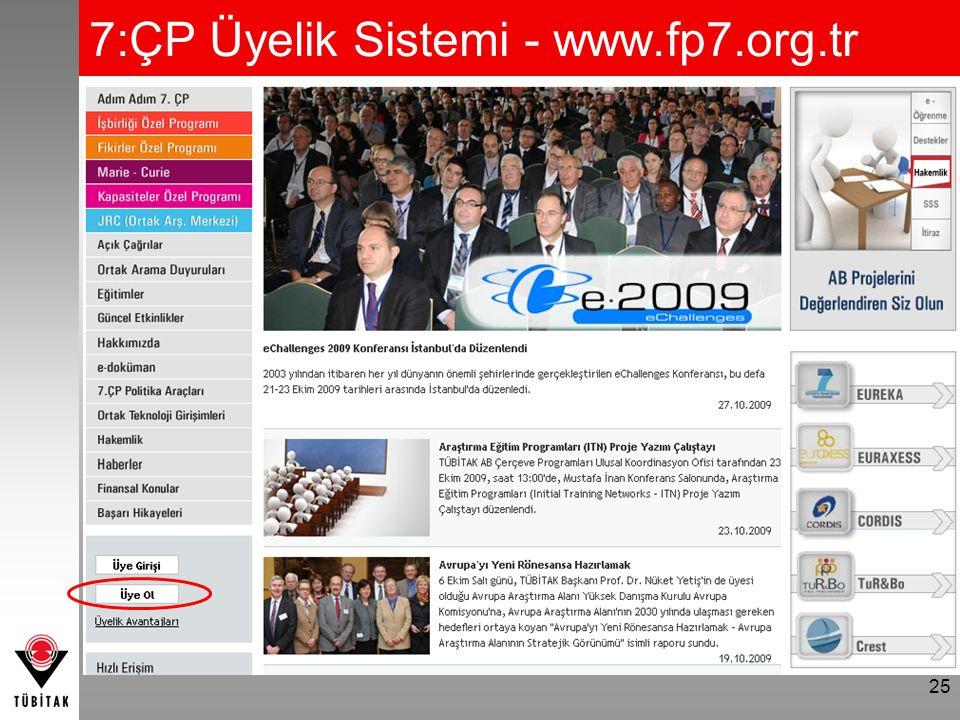 7:ÇP Üyelik Sistemi - www.fp7.org.tr