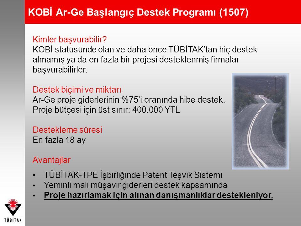 KOBİ Ar-Ge Başlangıç Destek Programı (1507)