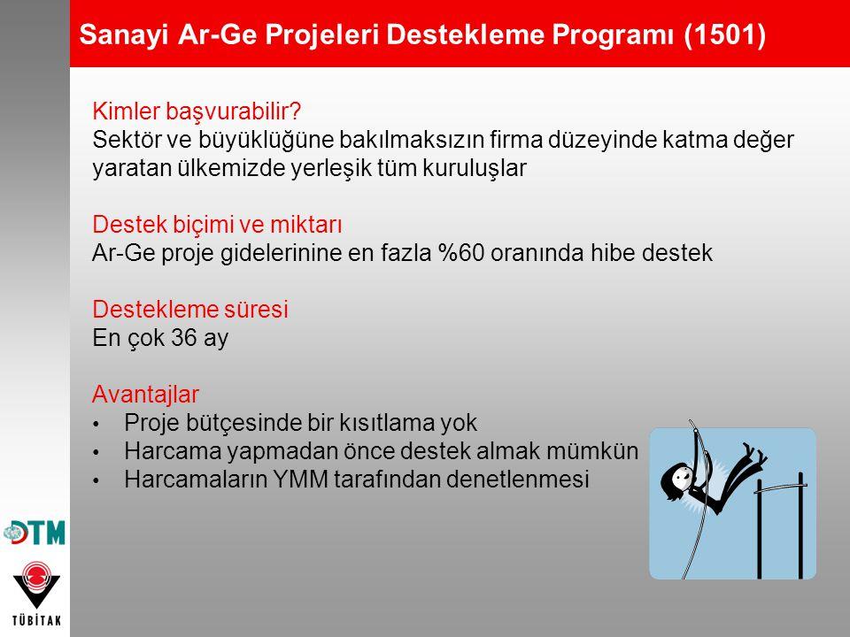 Sanayi Ar-Ge Projeleri Destekleme Programı (1501)