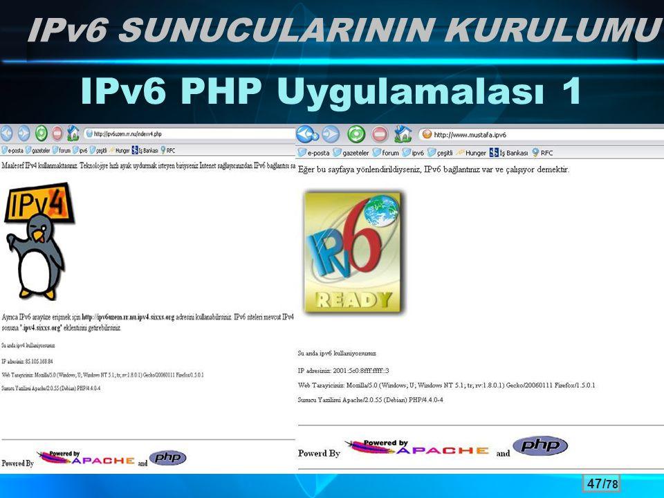 IPv6 SUNUCULARININ KURULUMU