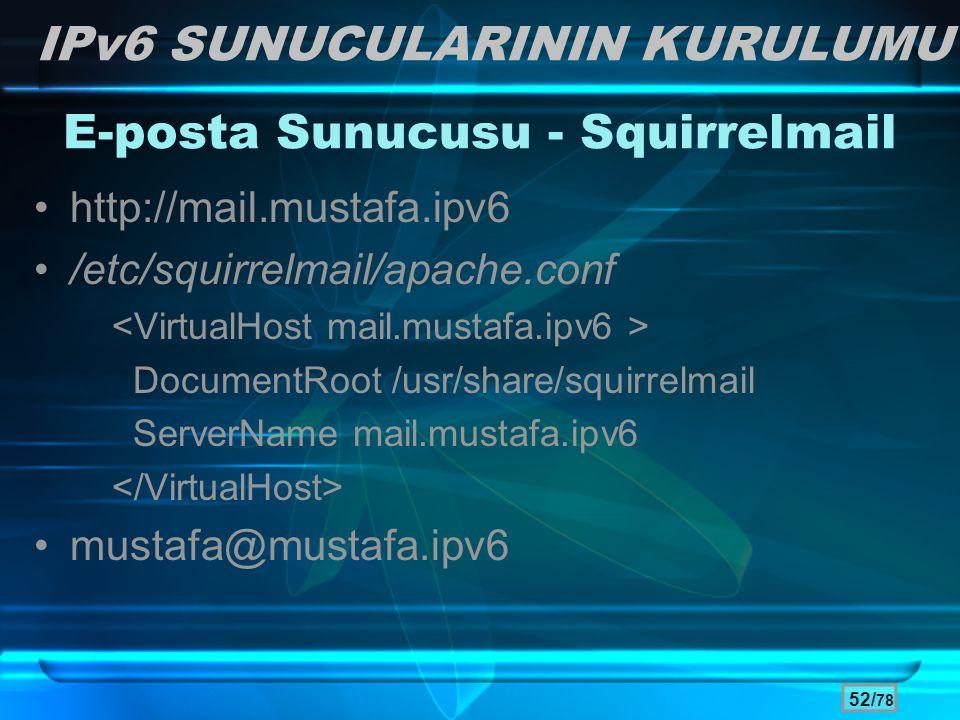E-posta Sunucusu - Squirrelmail