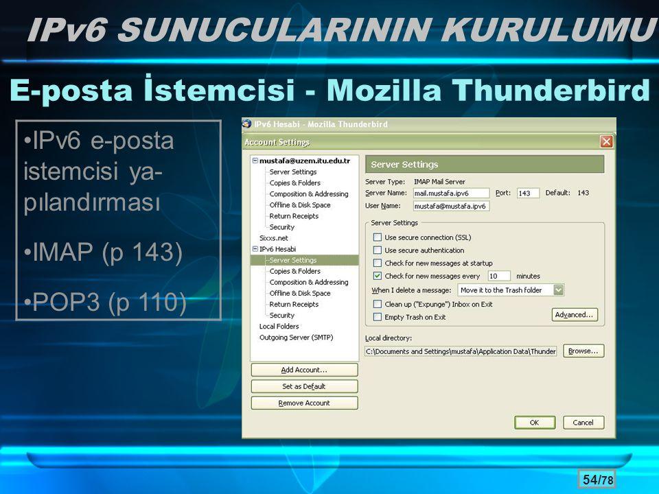 E-posta İstemcisi - Mozilla Thunderbird