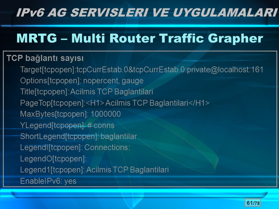 MRTG – Multi Router Traffic Grapher