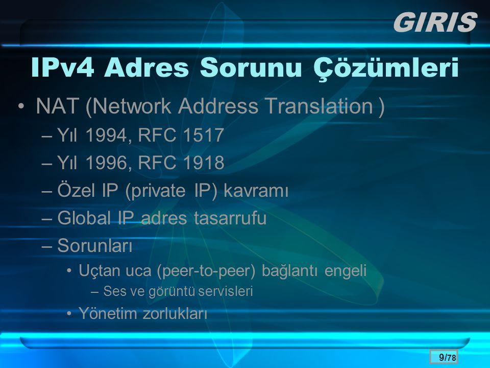 IPv4 Adres Sorunu Çözümleri