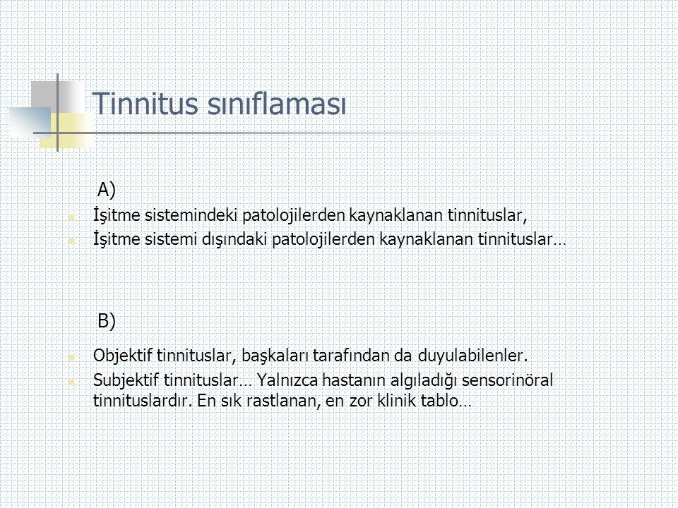 Tinnitus sınıflaması A) B)