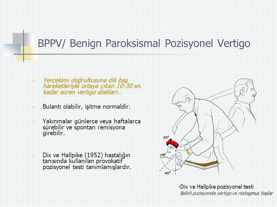 BPPV/ Benign Paroksismal Pozisyonel Vertigo