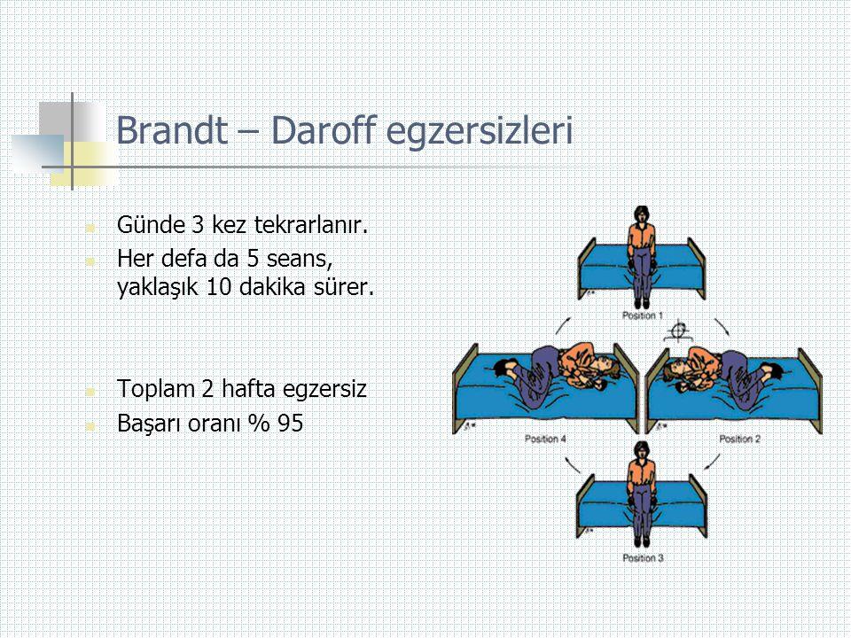 Brandt – Daroff egzersizleri