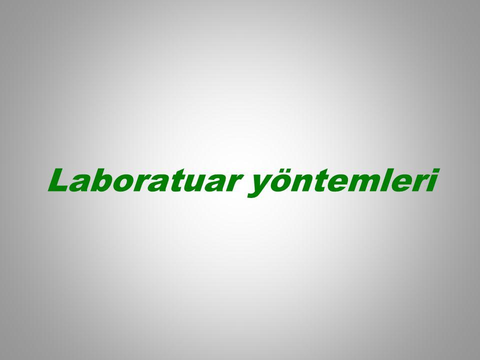 Laboratuar yöntemleri