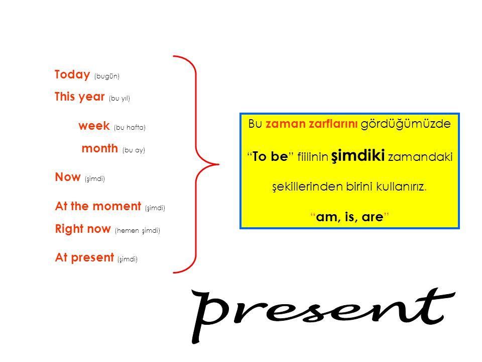 present Today (bugün) This year (bu yıl) week (bu hafta) month (bu ay)
