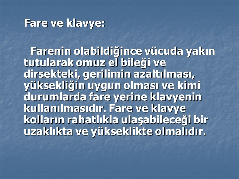 Fare ve klavye: