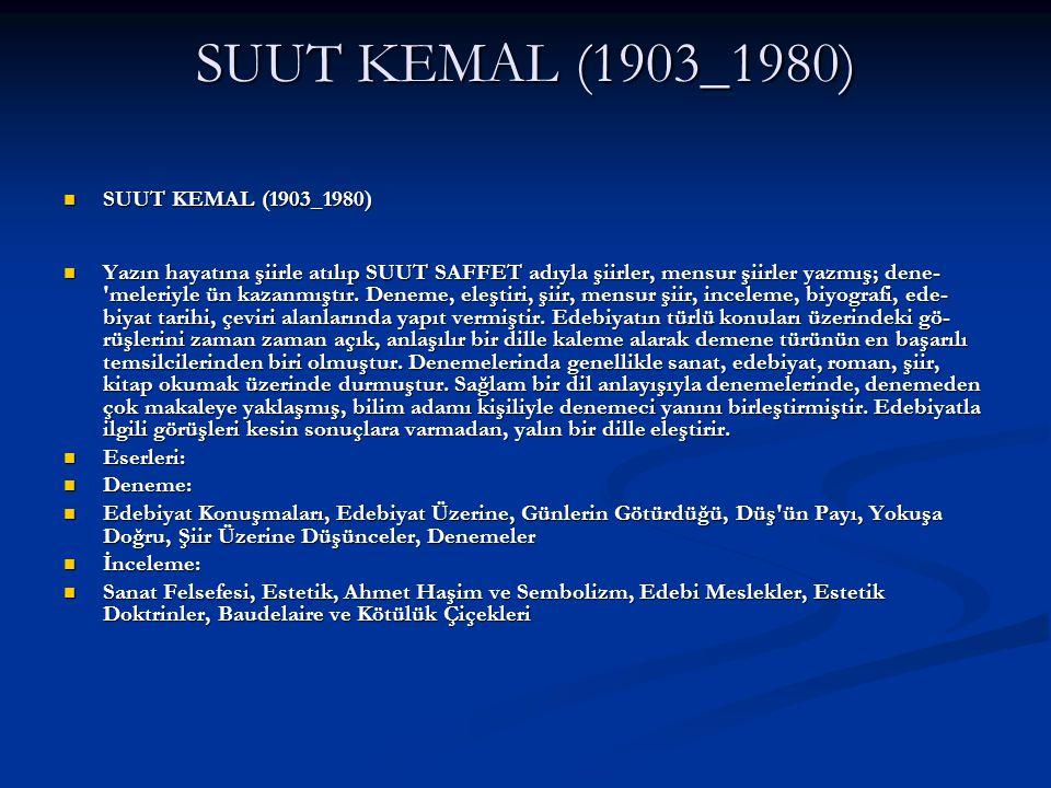 SUUT KEMAL (1903_1980) SUUT KEMAL (1903_1980)