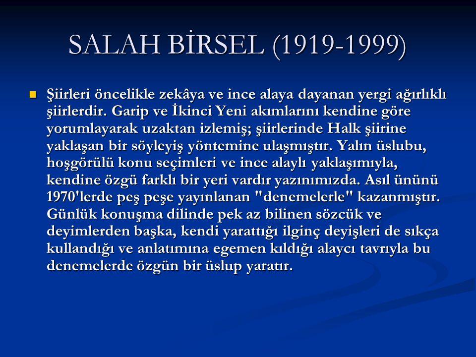 SALAH BİRSEL (1919-1999)