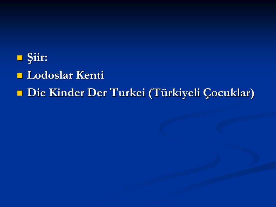 Şiir: Lodoslar Kenti Die Kinder Der Turkei (Türkiyeli Çocuklar)