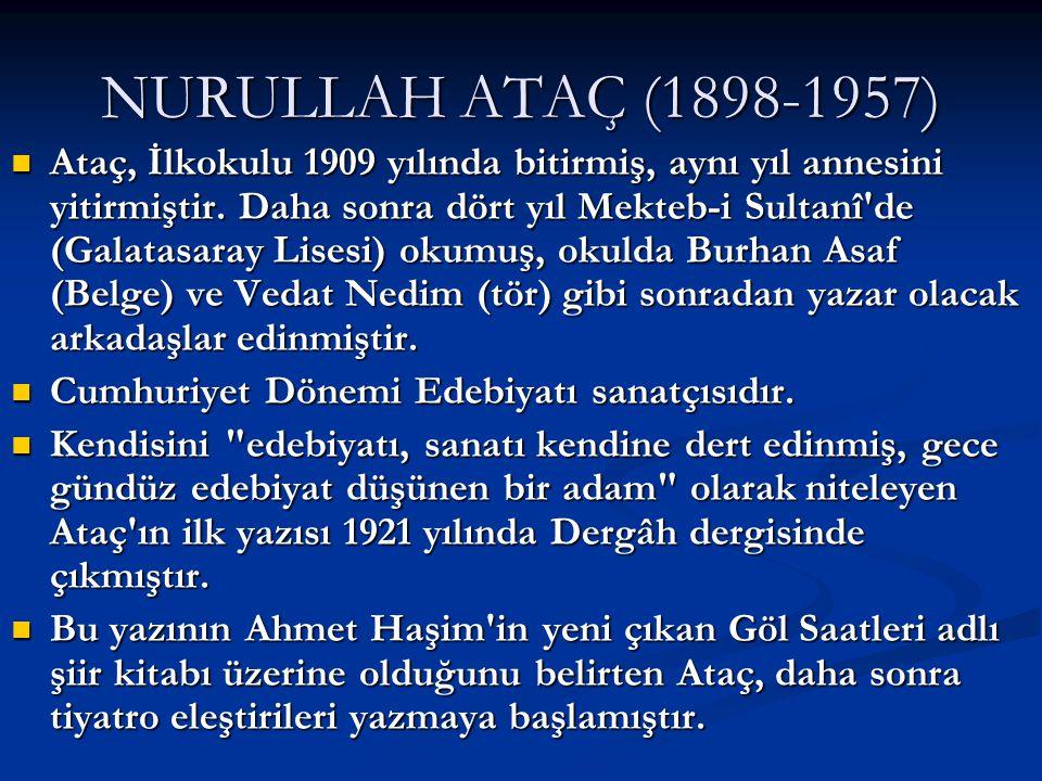 NURULLAH ATAÇ (1898-1957)