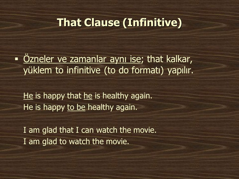 That Clause (Infinitive)