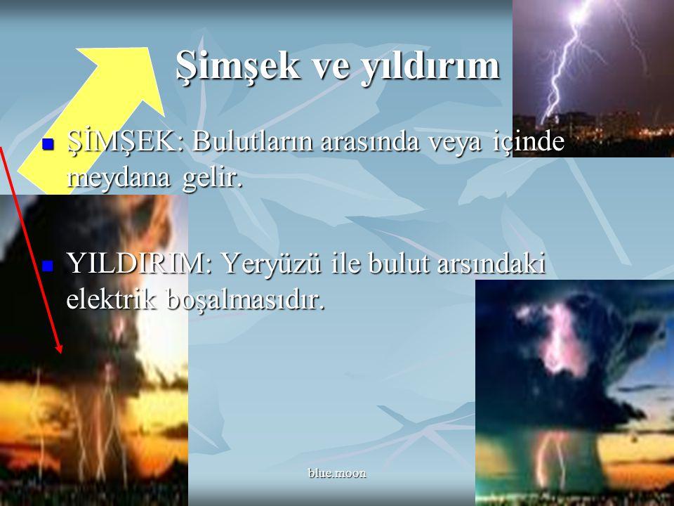 Şimşek ve yıldırım ŞİMŞEK: Bulutların arasında veya içinde meydana gelir. YILDIRIM: Yeryüzü ile bulut arsındaki elektrik boşalmasıdır.