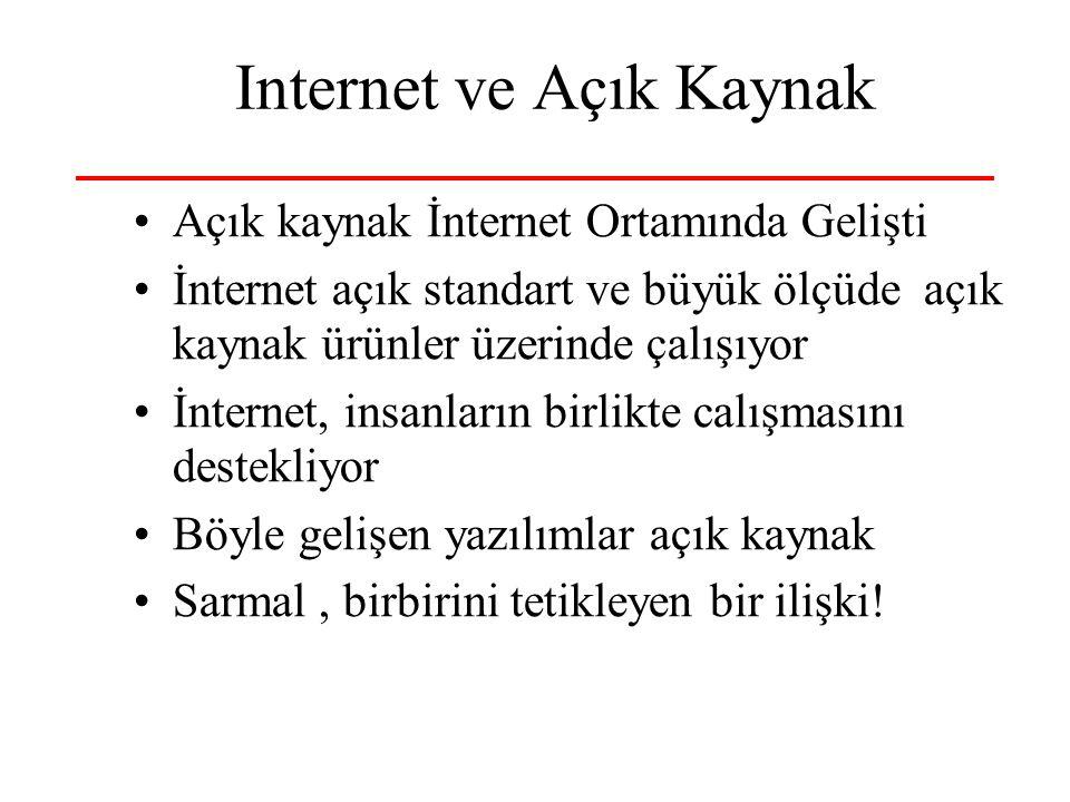 Internet ve Açık Kaynak