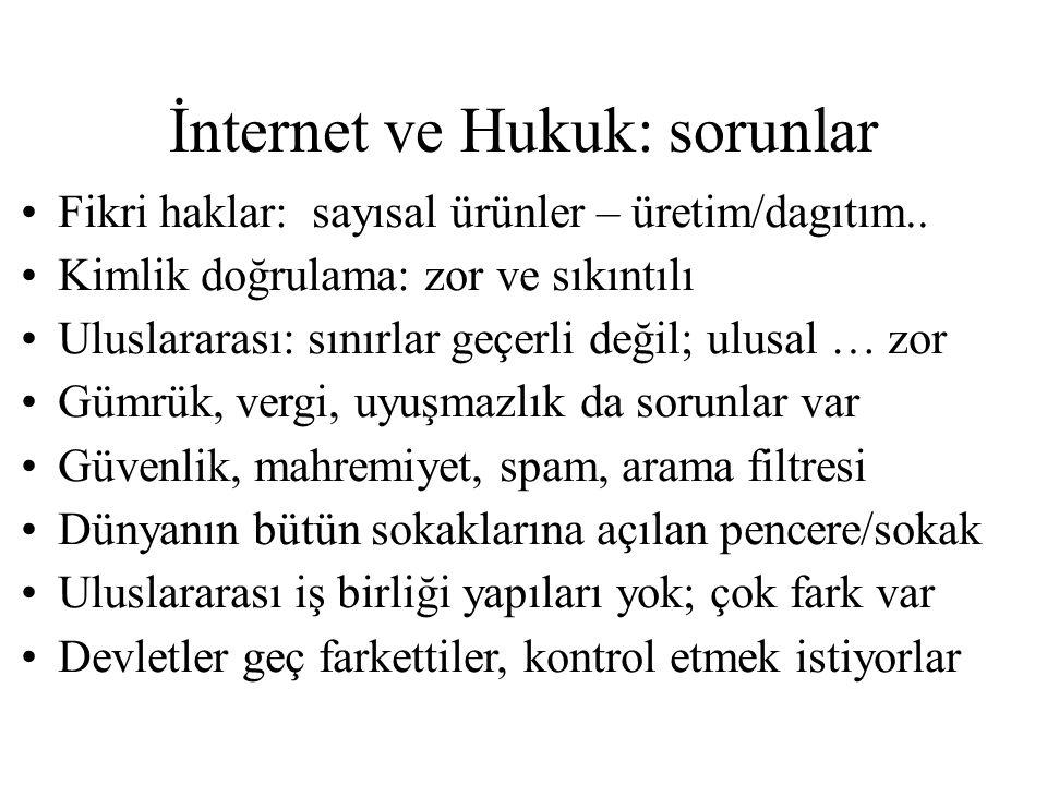 İnternet ve Hukuk: sorunlar