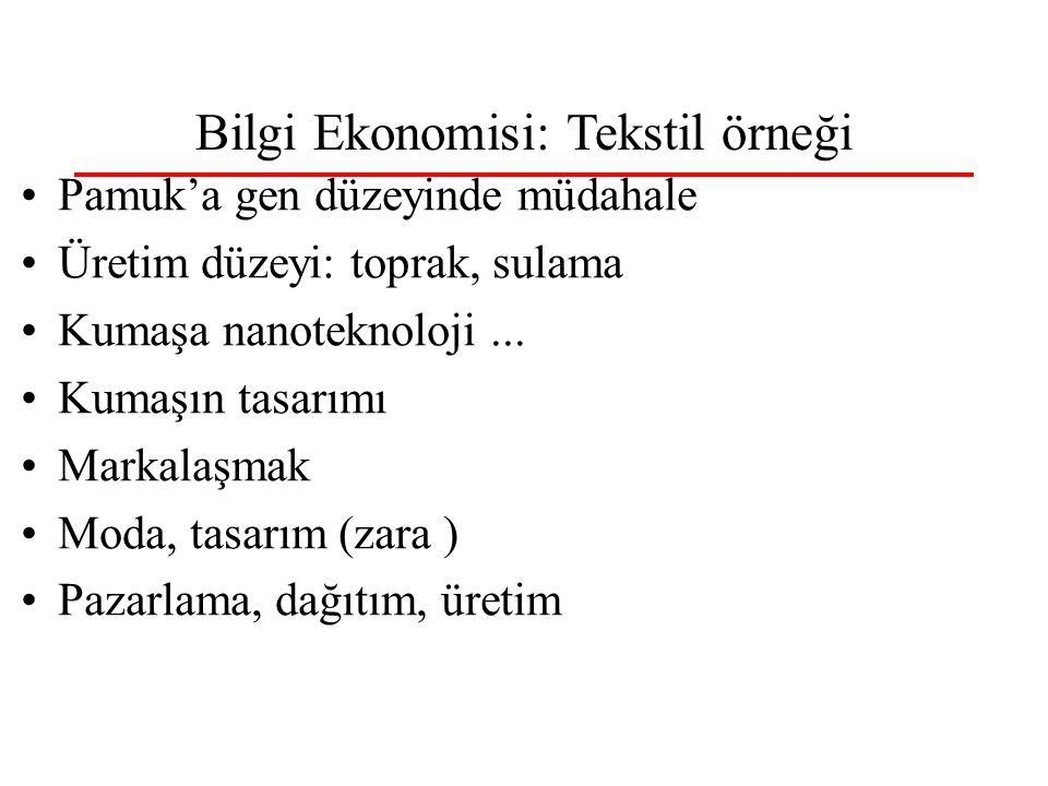 Bilgi Ekonomisi: Tekstil örneği