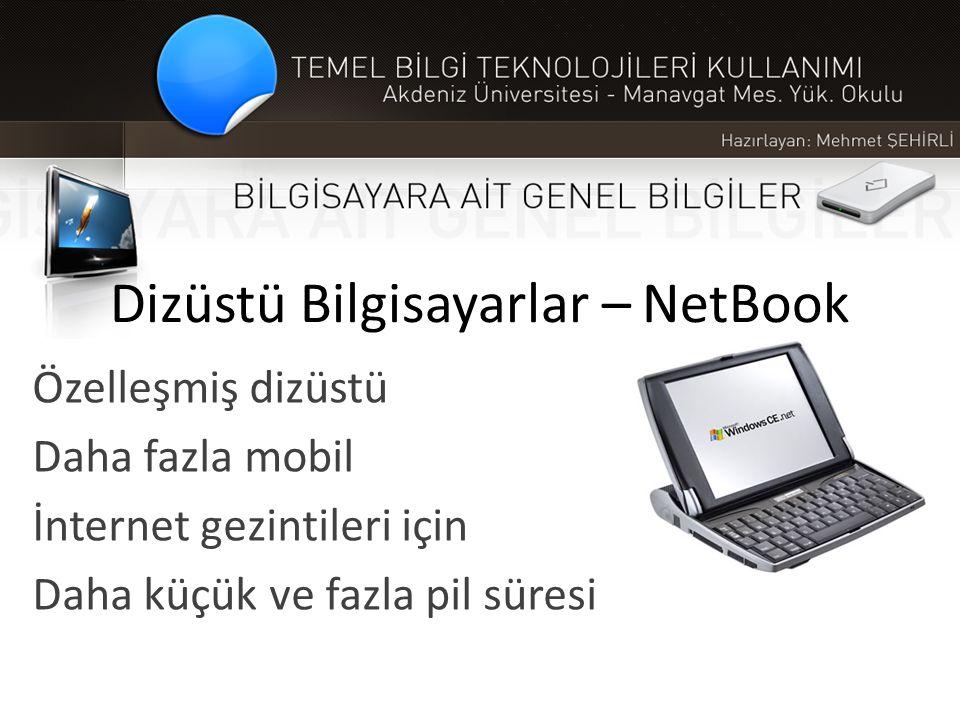 Dizüstü Bilgisayarlar – NetBook