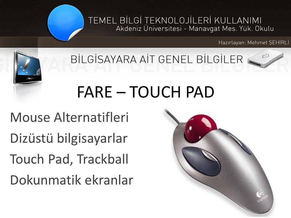 FARE – TOUCH PAD Mouse Alternatifleri Dizüstü bilgisayarlar