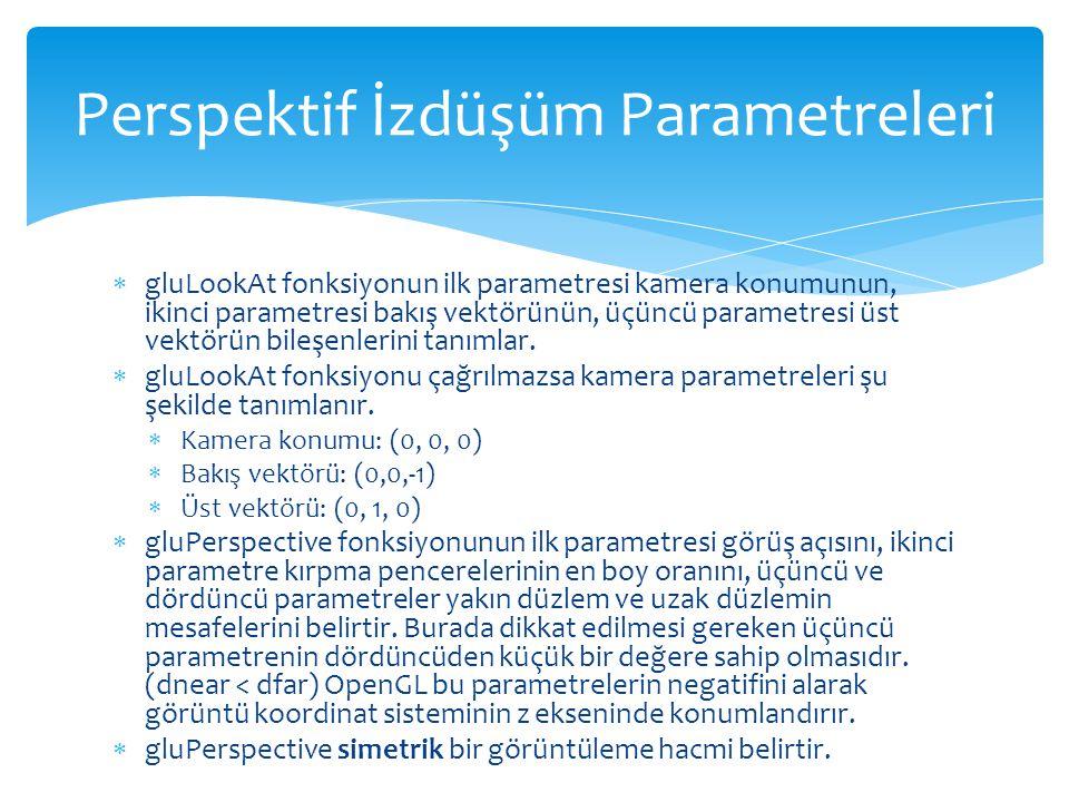 Perspektif İzdüşüm Parametreleri