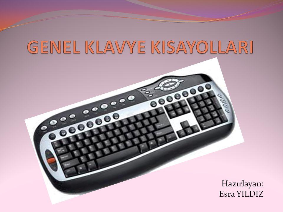 Genel Klavye Kisayollari