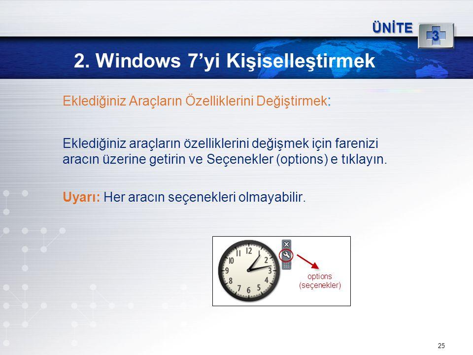 2. Windows 7'yi Kişiselleştirmek