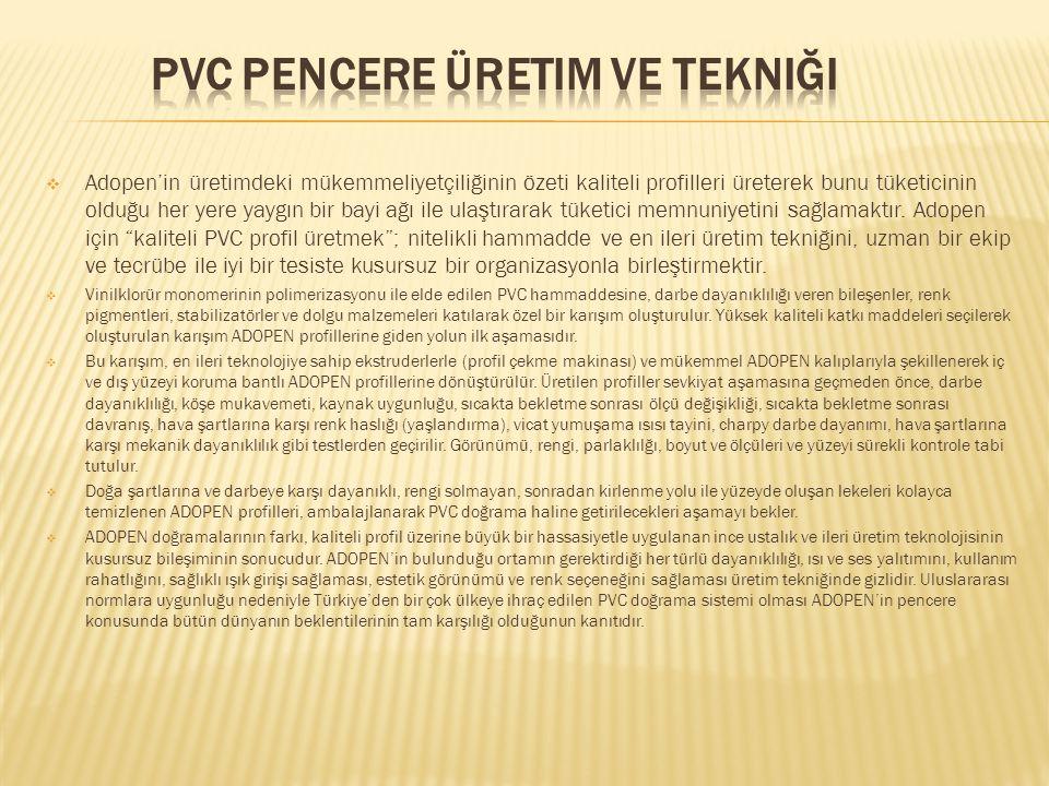 PVC Pencere Üretim ve Tekniği