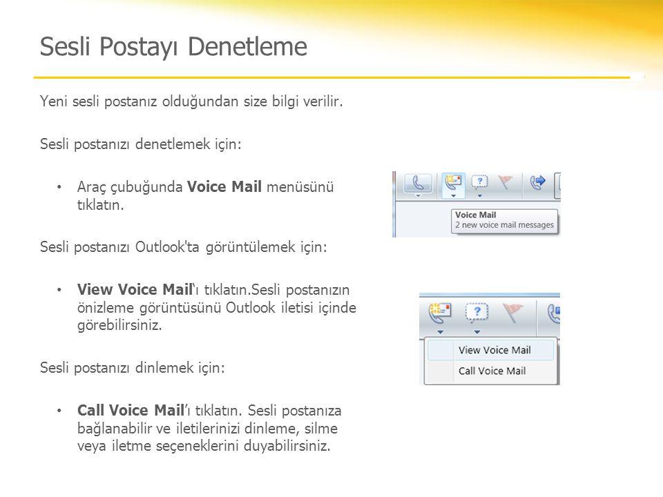 Sesli Postayı Denetleme
