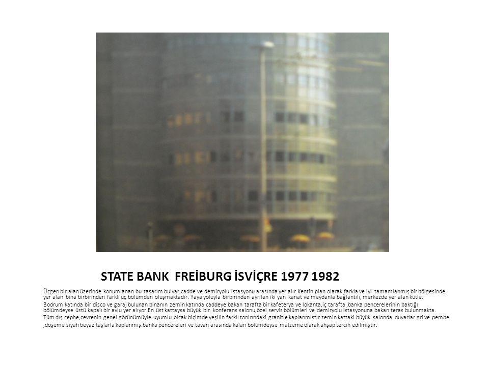 STATE BANK FREİBURG İSVİÇRE 1977 1982