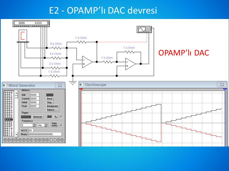 E2 - OPAMP'lı DAC devresi