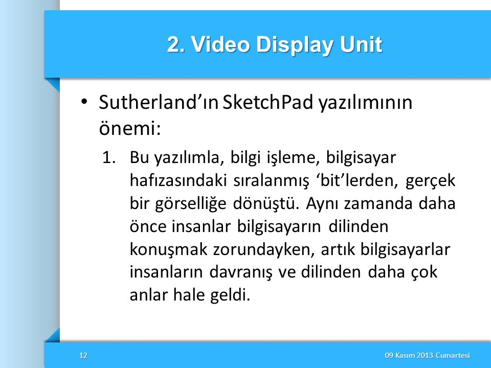 Sutherland'ın SketchPad yazılımının önemi: