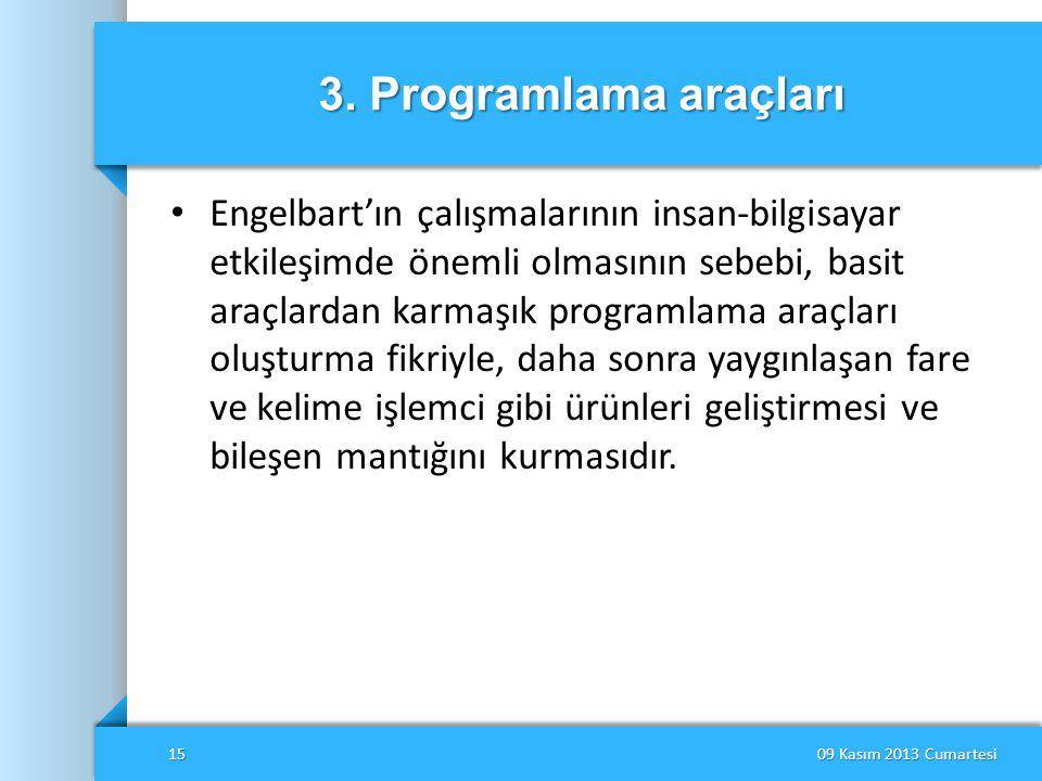 3. Programlama araçları