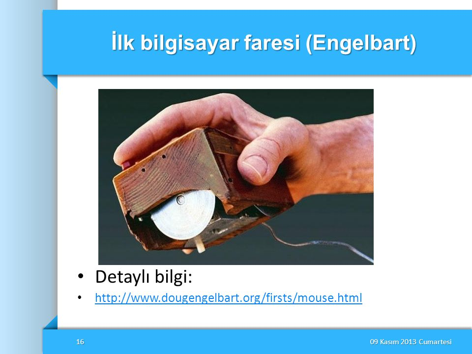 İlk bilgisayar faresi (Engelbart)