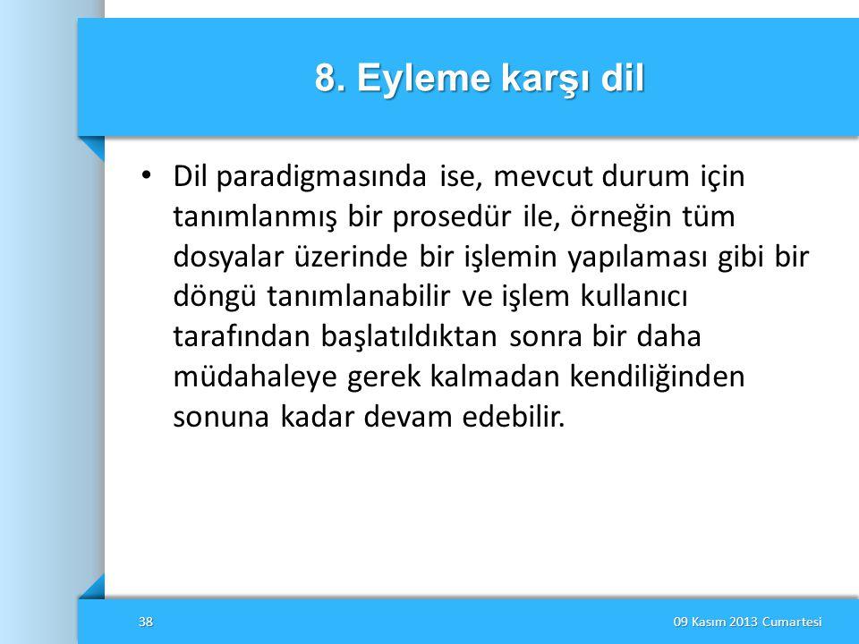 8. Eyleme karşı dil