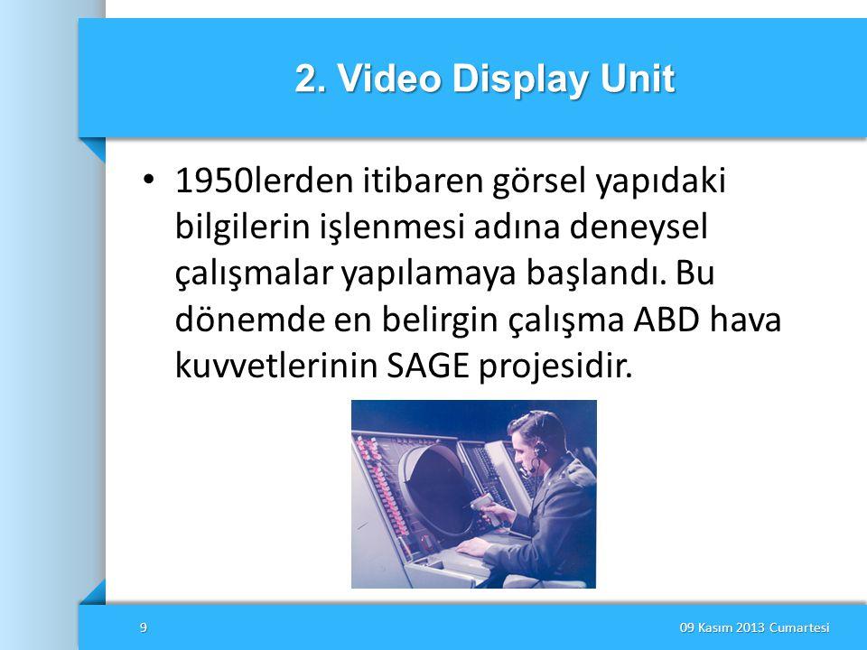2. Video Display Unit